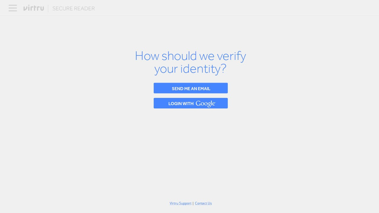 The recipient would follow the link, and land on a page asking them to verify their identity through a variety of methods.